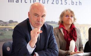 Le député des Côtes d'Armor Marc Le Fur est tête de liste de la droite et du centre aux régionales en Bretagne. Ici le 10 novembre à Rennes.