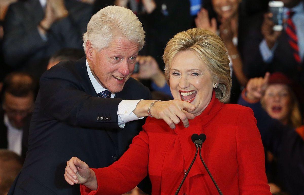 Hillary Clinton a terminé dans l'Iowa à quasi-égalité avec son adversaire Bernie Sanders, le 1er février 2016. – W.MCNAMEE/AFP