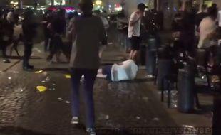 Les incidentes à Marseille, capture d'écran