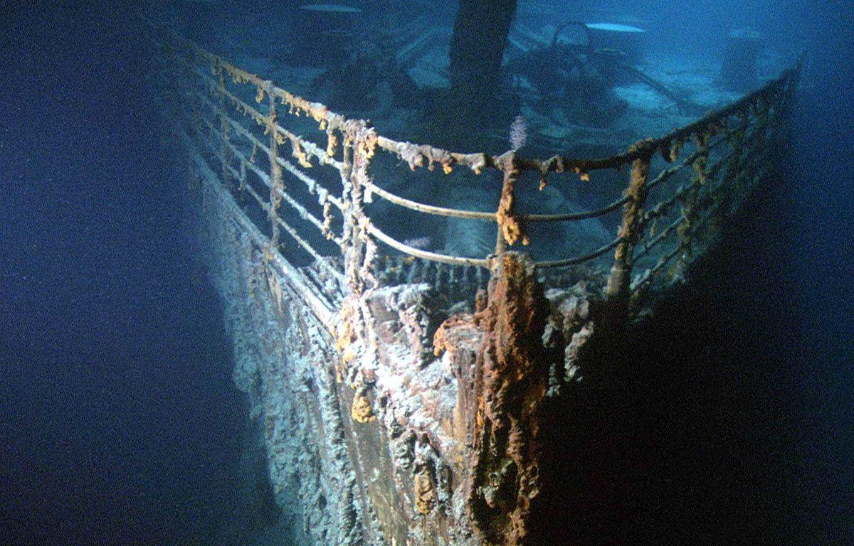 La proue du Titanic, immergé depuis 105 ans – LILO/SIPA