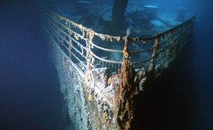 La proue du Titanic, immergé depuis maintenant 107 ans.