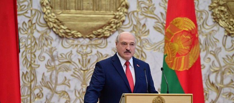 Le président biélorusse Alexander Lukashenko lors de sa cérémonie d'investiture le 23 septembre 2020.