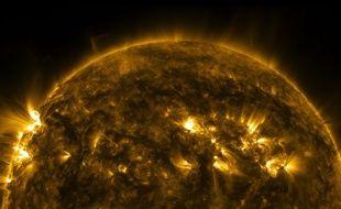 Capture d'écran Youtube du soleil filmé par la Nasa