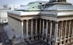 Le palais Brongniart, ancienne Bourse de Paris, le 23 septembre 2011