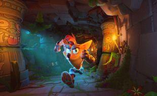 Crash Bandicoot court après la fame de Mario et Sonic, ici dans  « Crash Bandicoot : It's about time »