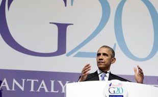 Le président américain Barack Obama, le 16 novembre 2015 au sommet du G20 à Antalya en Turquie