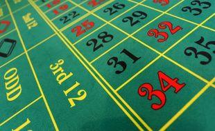 Un tapis de jeux dans un casino. (Illustration)