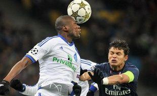 Le défenseur parisien Thiago Silva lors du match contre le Dynamo Kiev le 21 novembre 2012.