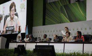 Les délégués lors d'une réunion au sommet de Cancun, au Mexique, le 1er décembre 2010.