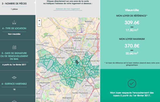 Site internet encadrementdesloyers.gouv.fr