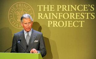 Le prince Charles lors du lancement de la campagne «The prince's rainforests project» contre la déforestation, en mai 2009.