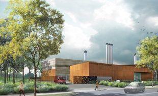 Image de synthèse du projet de la chaufferie Californie, à Rezé.