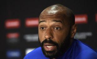 Thierry Henry lors d'une conférence de presse en février 2020.