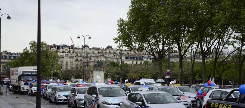 Les auto-écoles avaient déjà manifesté à Paris en avril 2017.