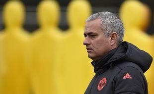 José Mourinho, lors du dernier entraînement avant le 16e de finale de Ligue Europa, ce mercredi.