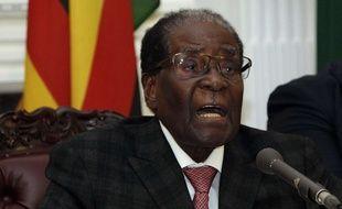 Robert Mugabe, président du Zimbabwe, lors d'une discours depuis la pésidence à Harare, le 19 novembre 2017