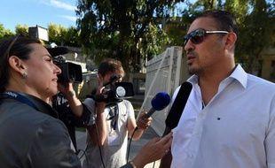 Le Tunisien Issam Tej, jugé en compagnie de 15 autres personnes pour un match supposé truqué, le 23 juin 2015 à Montpellier