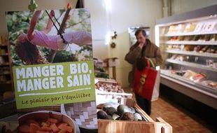 Dans supermarché bio à Mont-de-Marsan.