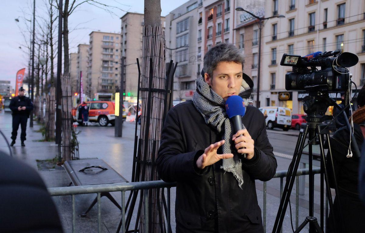 Un journaliste de BFM TV en reportage à Vincennes le 9 janvier 2015. – Fatih Tursun/SIPA