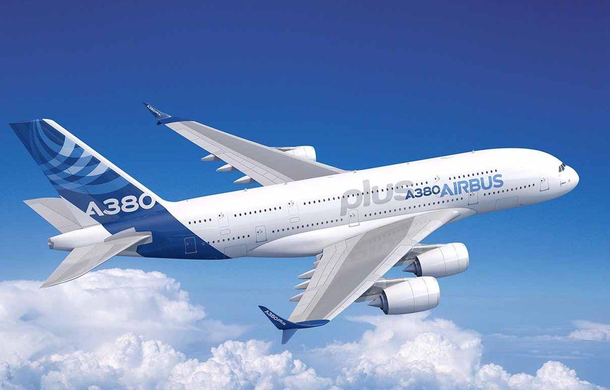 L'A380plus, avec les fameuses ailerettes au bout des ailes. – Airbus Group