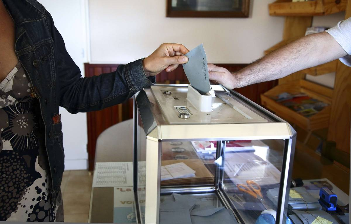 Illustration, un bureau de vote. – SIPA