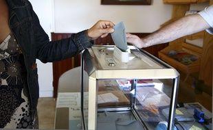 Illustration, un bureau de vote.
