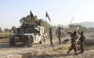 Des soldats des forces afghanes dans la province de Ghazni, dans l'est du pays.