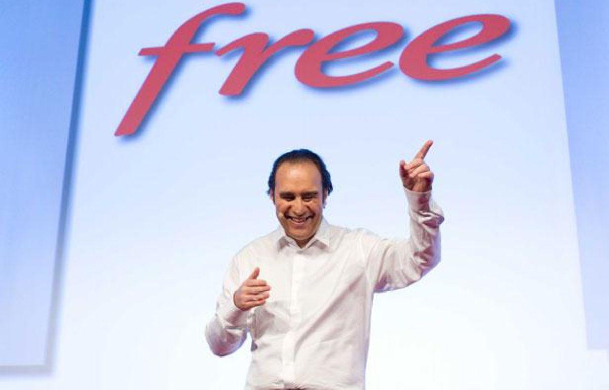 Xavier Niel, lors de la présentation de l'offre Free Mobile, le 10 janvier 2012. – PRM