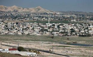 Une vue de la ville de Jéricho, en Cisjordanie, le 9 février 2015, près de laquelle s'est déroulée l'agression