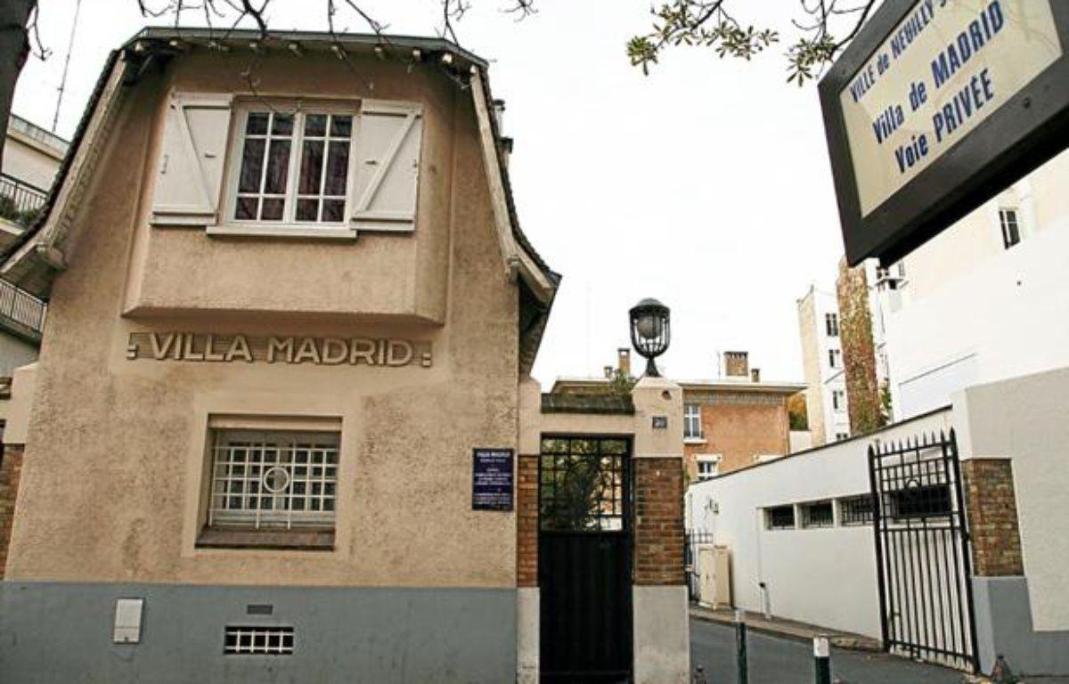 La villa Madrid, où Claude Dray a été retrouvé mort à Neuilly-sur-Seine, le 24 octobre 2011. – M. GIRAULT / SIPA
