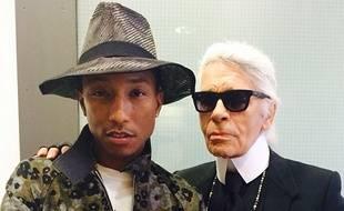 En mai dernier, Pharrell Williams avait publié une photo sur son compte Instagram avec Karl Lagerfeld.
