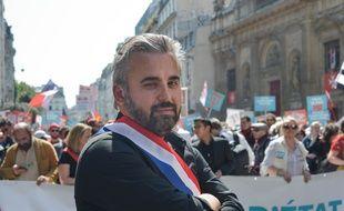 Alexis Corbière à « La fête à Macron » à Paris le samedi 5 mai.
