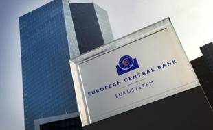 Le siège de la Banque centrale européenne (BCE), le 21 janvier 2016 à Francfort en Allemagne