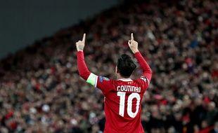 Philippe Coutinho a inscrit un triplé lors de Liverpool-Spartak Moscou, le 6 décembre 2017.