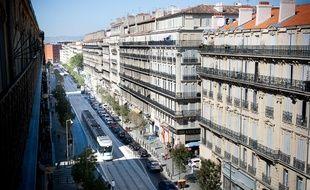 La rue de la république à Marseille.