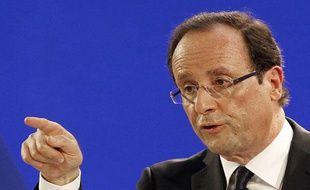 François Hollande présente ses 60 propositions pour redresser la France, le 26 janvier à Paris.