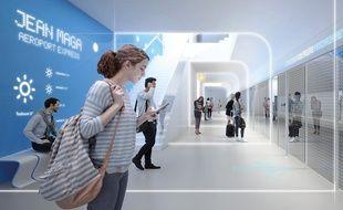 La future station de métro Jean-Maga d'où partira le tram express pour l'aéroport.