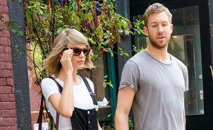 Taylor Swift et Calvin Harris à New York, le 29 mai 2015.
