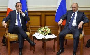 François Hollande et Vladimir Poutine à Moscou le 6 décembre 2014.