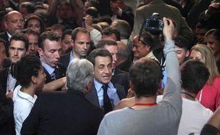Nicolas Sarkozy en meeting à Toulon (Var), le 3 mai 2012.