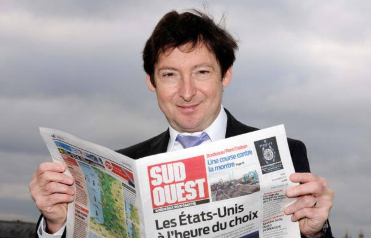 Olivier Gerolami, président du groupe Sud-Ouest. – JEAN-PIERRE MULLER / AFP