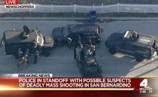 Deux suspects de la tuerie de San Bernardino qui s'étaient enfuis à bord de ce 4x4 ont été tués par les autorités.