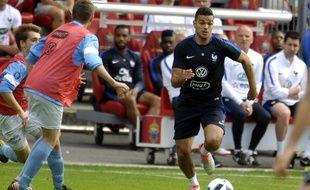 Hatem Ben Arfa à l'entraînement avec l'équipe de France, à Biarritz, le 21 mai 2016.