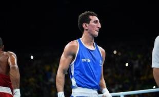 Le boxeur Sofiane Oumiha lors de la finale des Jeux olympiques de Rio, le 16 août 2016.