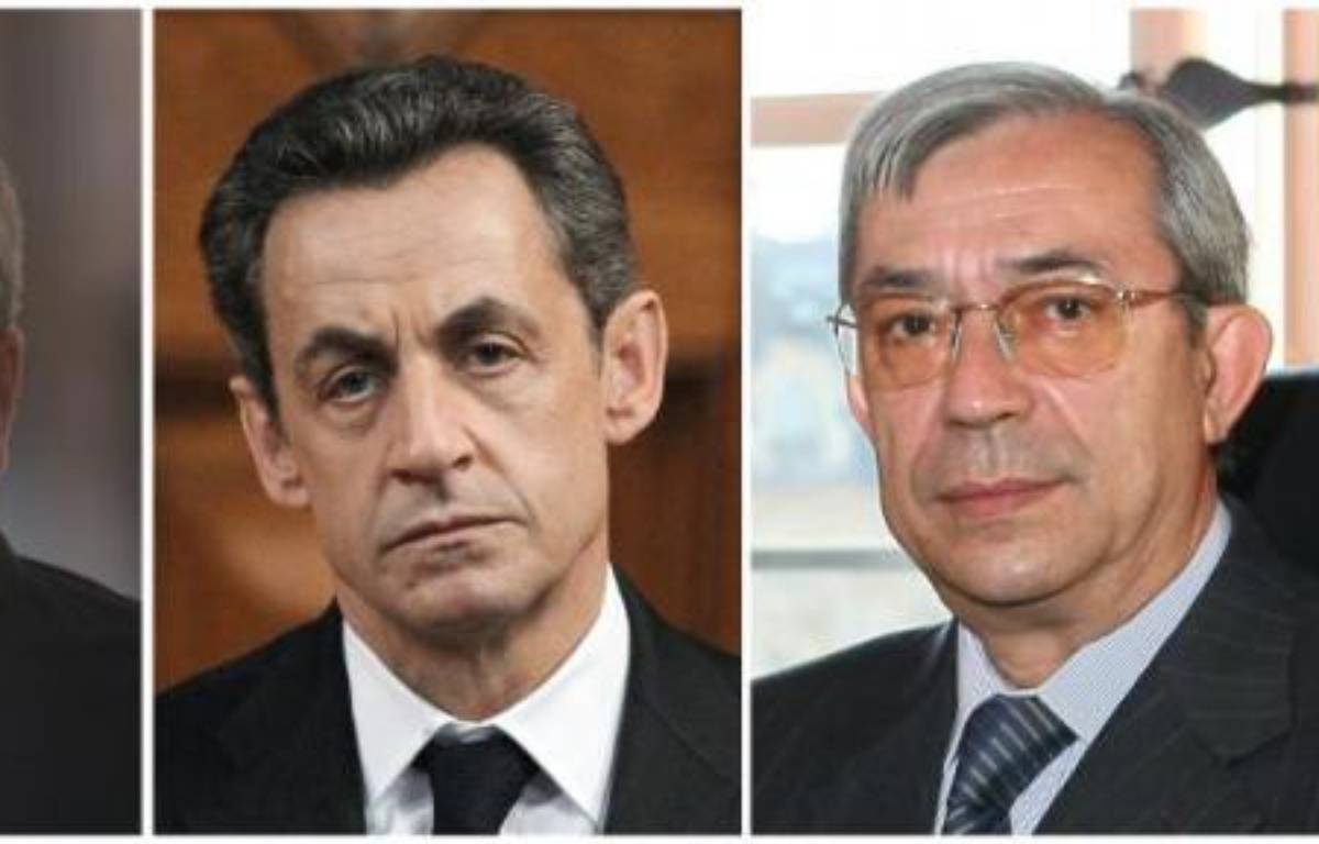 Montage de photos de Me Thierry Herzog, Nicolas Sarkozy et Gilbert Azibert – Valéry Hache , Thomas Coex , Martin Bureau AFP