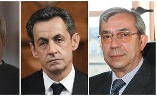 Montage de photos de Me Thierry Herzog, Nicolas Sarkozy et Gilbert Azibert