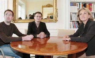Valérie Pécresse s'est entretenue avec chacune des cinq organisations étudiantes. Ici, Thierry Lecrars et Jean-Baptiste Prévost, respectivement vice-président et président de l'Unef.