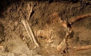 Le squelette que les experts italiens attribuent à Lisa Gherardini.