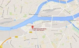 L'hôtel se trouve dans la zone Atout sud, près de Trentemoult.