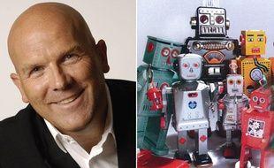 Bruno Bonnell, ex-président d'Infogrames, à la tête de Robopolis, qui commercialise des robots.